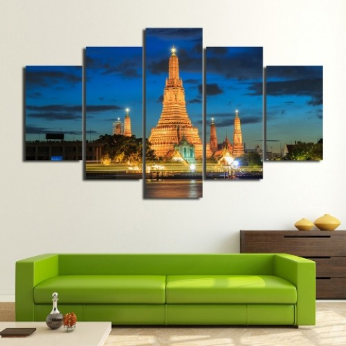 City Building Picture On Large Wall Canvas Art
